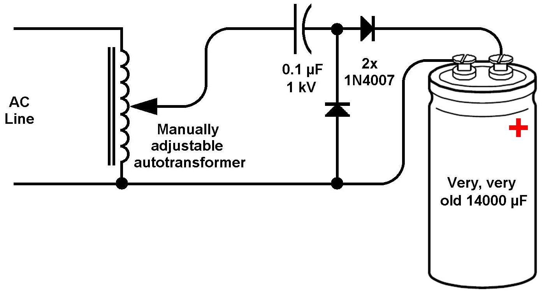 Electrolytic Capacitor Reforming Circuit Not Lossing Wiring Diagram Simple Aluminum Reclamation John Dunn Consultant Ambertec Rh Licn Typepad Com Procedure Charging