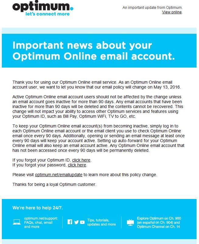 Optimum Online Account Time Limit - John Dunn, Consultant