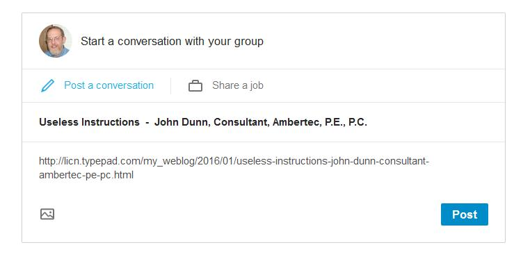 tab control for linkedin groups john dunn consultant ambertec