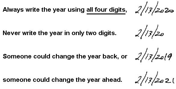 Always Use All Four Digits