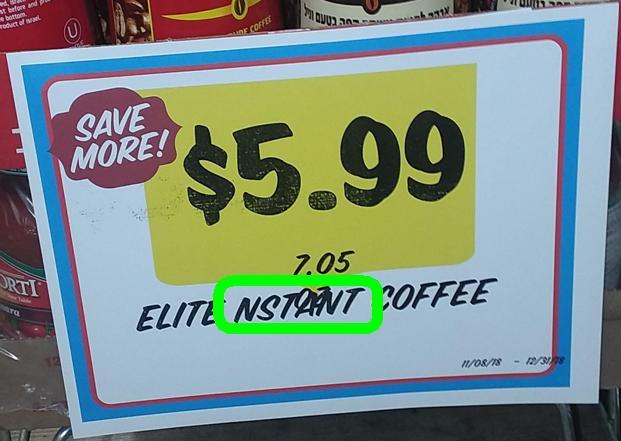 Typo Nstant Coffee
