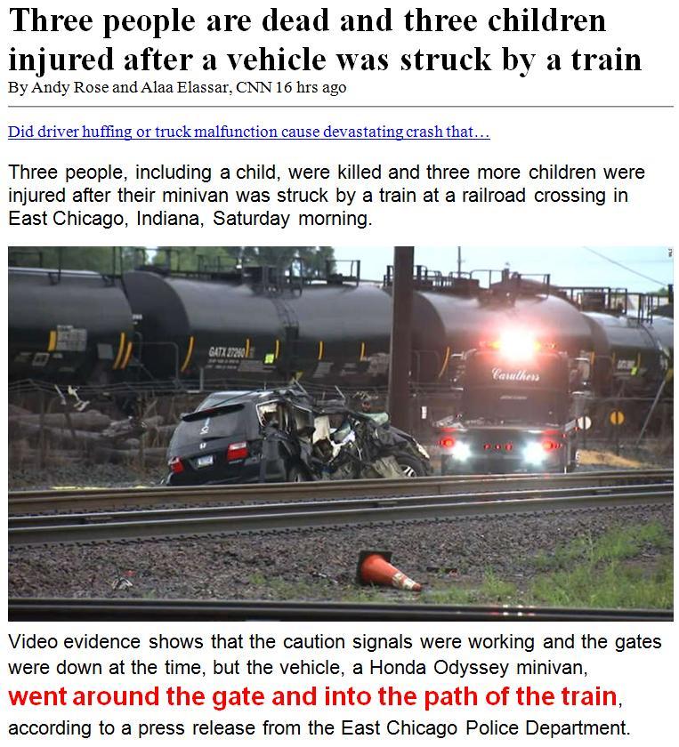 Car and Train Crash 1