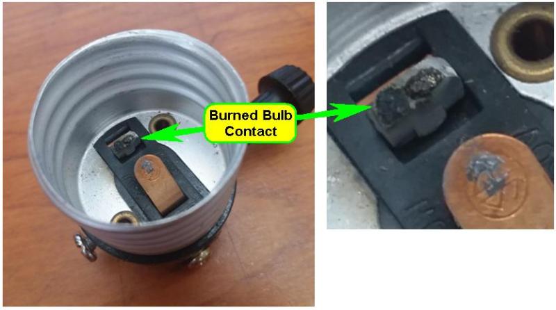 Defective Three-Way Lamp Socket