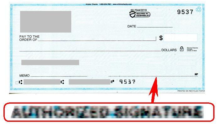 Check Signature Line 2