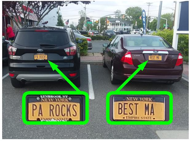 Plates PA ROCKS and BEST MA